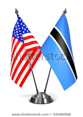 USA and Botswana - Miniature Flags. Stock photo © tashatuvango