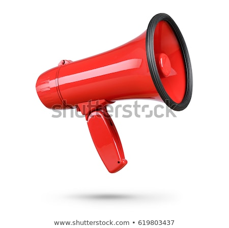 Megaphone loud-speaker for voice amplification Stock photo © LoopAll