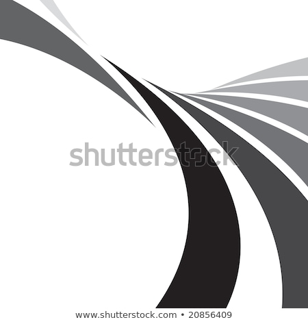 Smooth grayscale lines abstract background. Vector illustration Stock photo © pashabo