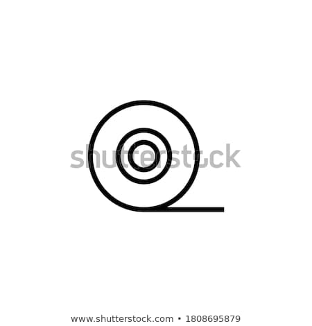 Stock photo: Roll of adhesive tape line icon.