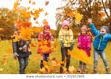 lächelt · glücklich · Gruppe · Kinder · Studenten - stock foto © godfer