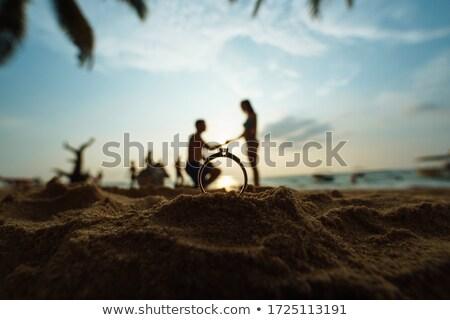 Gyémántgyűrű szerelmespár illusztráció nő szeretet pár Stock fotó © adrenalina