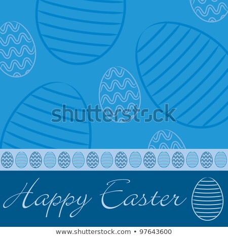 Bright Happy Easter card in vector format. stock photo © piccola