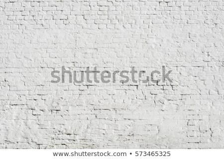 fragment of white brick wall Stock photo © meinzahn
