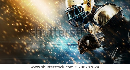 Amerikai futballista fut futball futballpálya fű Stock fotó © wavebreak_media