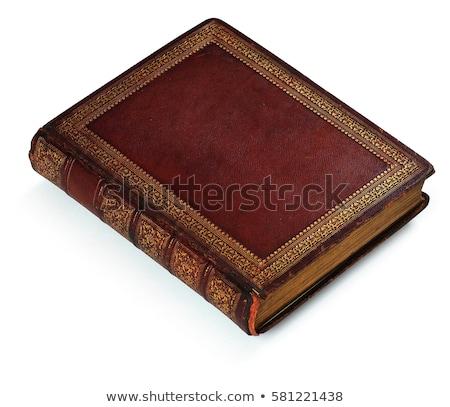 Zamknięte starej książki odizolowany biały papieru tekstury Zdjęcia stock © michaklootwijk