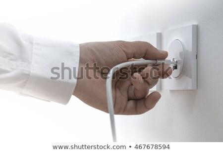 Ethernet кабеля гнездо стены интернет связи Сток-фото © simpson33