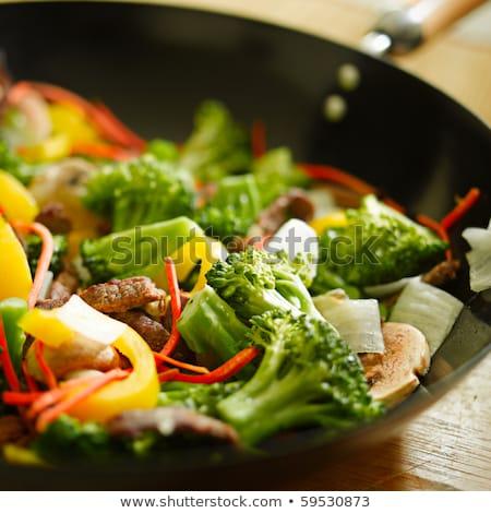 carne · vegetal · cozinhar · macro · legumes · grelhado - foto stock © romvo