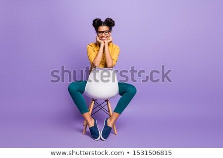 quarto · vermelho · cadeira · gramofone · ilustração · fundo - foto stock © bluering