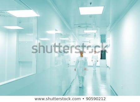 moderno · brilhante · fábrica · interior · trabalhando · pessoas - foto stock © zurijeta