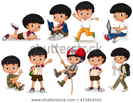 Kids in different actions set Stock photo © bluering