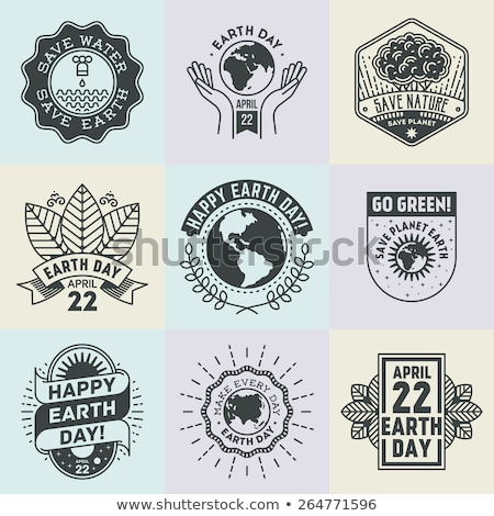 Earth day badge and retro style banner Stock photo © day908