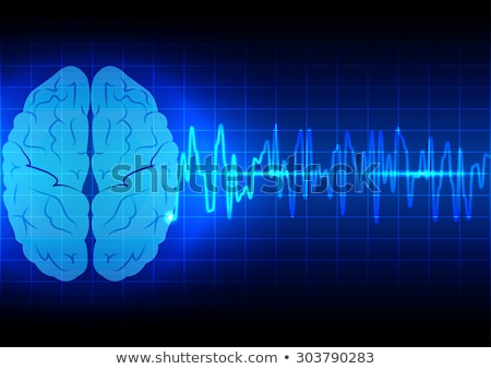 human brain treatment abstract light blue background stock photo © tefi