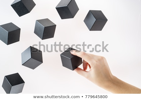 Cubes blanche nombre bleu eau Photo stock © simply
