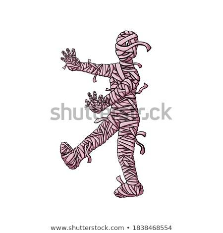 Személy bandázs magasról fotózva kilátás visel tornaterem Stock fotó © AndreyPopov
