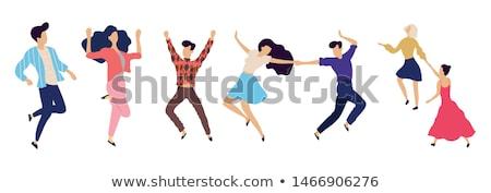 dancing woman collection stock photo © 5xinc