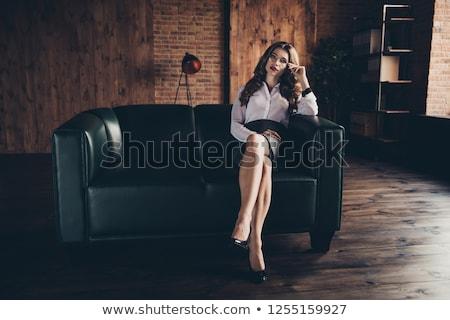 Inteligente sedutor senhora elegante interior luxuoso Foto stock © konradbak