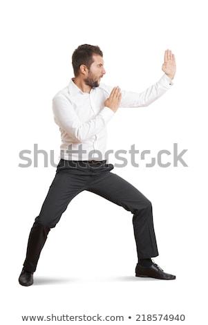 businessman Male Karate on white background Stock photo © Istanbul2009