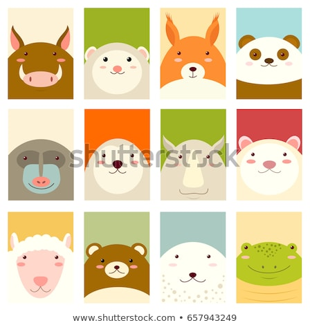 Glückliches Gesicht Illustration glücklich Kunst funny Fett Stock foto © bluering