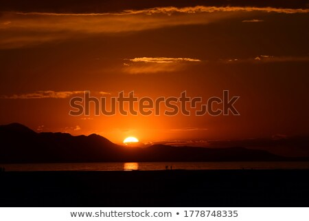 Colorful skies nearing sunset Stock photo © pictureguy