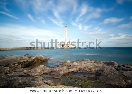 lighthouse, Gatteville, Normandy, France Stock photo © phbcz