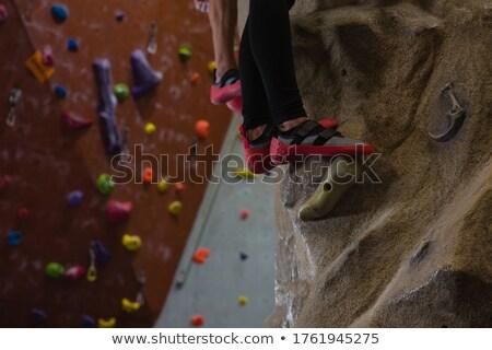 低い セクション アスリート 岩クライミング スタジオ フィットネス ストックフォト © wavebreak_media