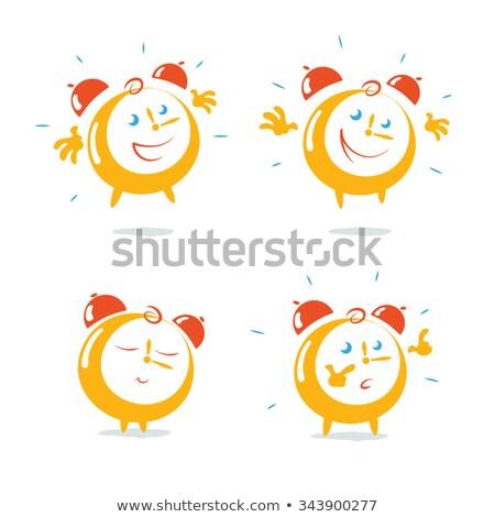 Set giallo allarme orologi isolato bianco Foto d'archivio © pakete