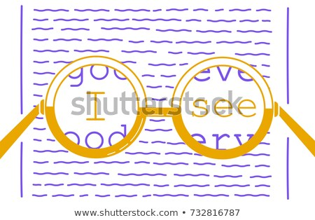 баннер · видение · коррекция · очки · форме - Сток-фото © olena