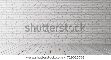 fehér · téglafal · firka · ikonok · körül · modern - stock fotó © tashatuvango