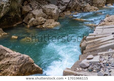 Montanha rio rochas rápido limpar água doce Foto stock © MaryValery