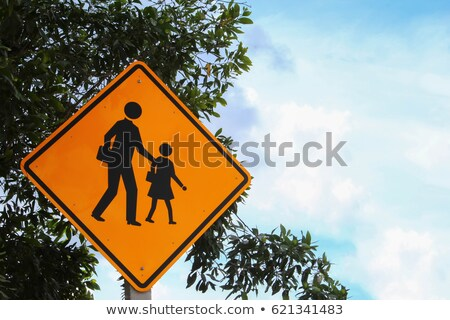 Adult child warning road sign Stock photo © IS2