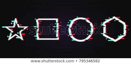Glitch distortion frame. Vector star illustration Stock photo © m_pavlov