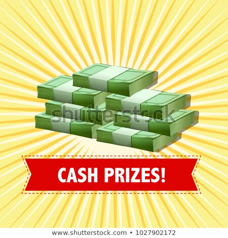Poster design with cash prizes Stock photo © bluering