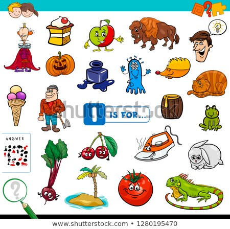 Worksheet design for words starting with A Stock photo © bluering