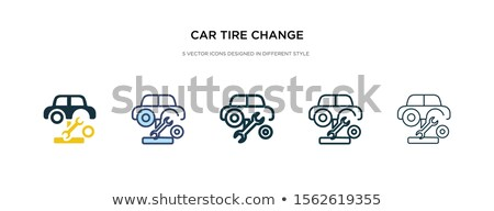 Stock photo: Pump icon in different style
