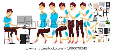 pracownik · biurowy · wektora · kobieta · biznesmen · ludzi · pani - zdjęcia stock © pikepicture