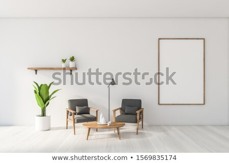 Two elegant frames stand on the shelf. 3D render Stock photo © adamr