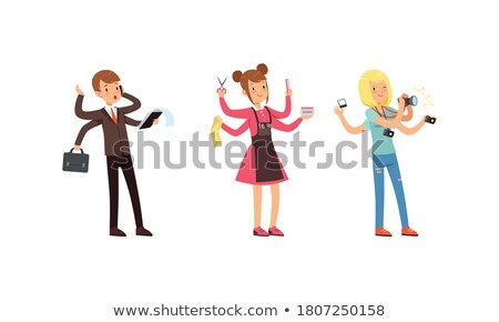 Photographer Cartoon Character with Tools Stock photo © Voysla