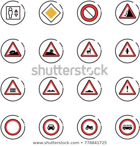 Intersection arrows for artificial and natural Stock photo © ichiosea