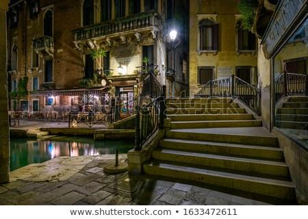 カフェ ヴェネツィア 通り イタリア 建物 コーヒー ストックフォト © neirfy