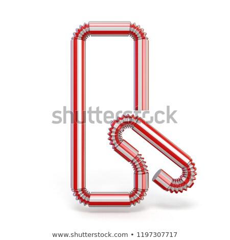 Drinking straw font Letter Q 3D Stock photo © djmilic