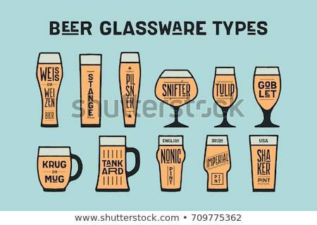 Beer glassware types. Poster or banner with different types Stock photo © FoxysGraphic