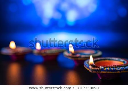 Diwali geleneksel Hint kil lamba Stok fotoğraf © kostins