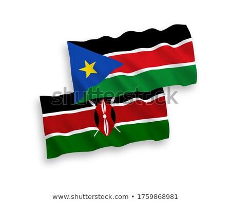 Zuiden Soedan vlag geïsoleerd witte Stockfoto © daboost