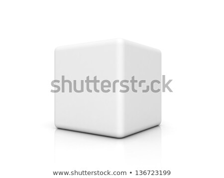 Abstract one line cube shape 3D Stock photo © djmilic