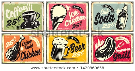 Beer Set and Snack Collection Vector Illustration Stock photo © robuart