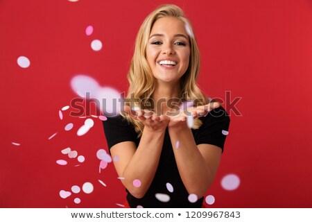 Ritratto ottimista donna 20s ridere Foto d'archivio © deandrobot