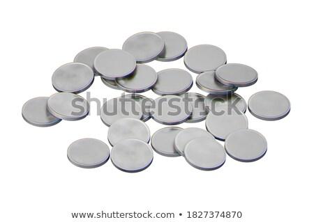 серебро монетами белый Сток-фото © mizar_21984