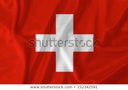Bandera Suiza papel ilustración diseno cruz Foto stock © colematt
