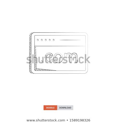 surfen · www · grafische · adres · bar · computer - stockfoto © rastudio